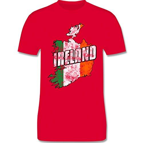 EM 2016 - Frankreich - Ireland Umriss Vintage - Herren Premium T-Shirt Rot