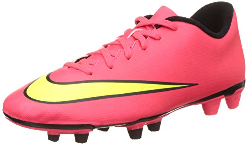 Nike Mercurial Vortex Ii Fg 651647 Herren Fu脽ballschuhe Training Rot (Hypr Punch/Mtlc Gld Cn-Blk-Vlt)