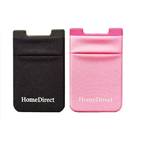 HomeDirect Lycar Smart 2 Pocket Functioning as Card Holder for Back of iPhone, Android, All Smartphone and for Metal Card Holder Pack of 2 (Black and Bubblegum Pink)