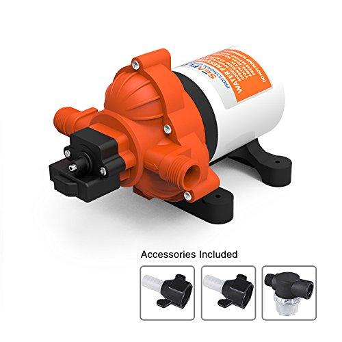 Seaflo Membran Wasser Druck Pumpe 12V DC 3.0GPM Rückenspritzgerät mit Automatik-Schalter für landwirtschaftliche Sprühen Allgemeine Industrie Automotive -