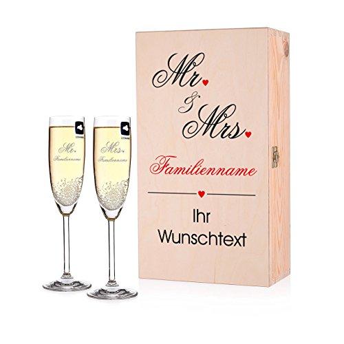 er zur Hochzeit mit Gravur in Premium Verpackung (Braut Und Bräutigam Tisch)
