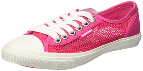 Superdry Low Pro Mesh, chaussures à lacets femme Rosa (Bright Magenta)