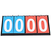 Tabellone segnapunti Portatile, 2/3/4 cifre Portatile Flip Sport Scoreboard Score Counter per Basket(4 cifre)