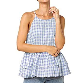 Lenfesh Femmes Style Sauvage sur L/éPaule Crop Tops Sequins Bretelles Soutien-Gorge D/éBardeurs Gilets
