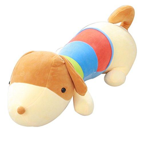 Good Night Dessin animé se trouvant chien coloré en peluche peluche tenant des poupées de jouet pour les cadeaux d'anniversaire (50cm)