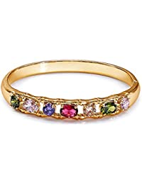 Peora AAA Zirconia 18K Gold Plated Studded Jewel Tone Bracelet For Women And Girls