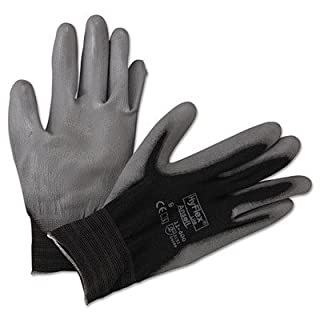 AnsellPro HyFlex Lite Gloves, Black/Gray, Size 9