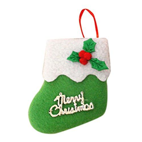 Aiming Kleine Boots-Anhänger Weihnachtsbaum Ornamente Weihnachtsschmuck Socken