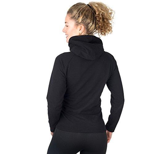 SMILODOX - Sweat à capuche - Manches Longues - Femme Noir