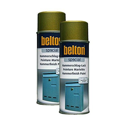 Preisvergleich Produktbild Kwasny 2 x 323 002 Belton Special Hammerschlag-Lack Gold 400ml