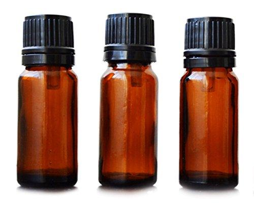 10ml Bottiglie Vuote di vetro ambrato aromaterapia, Brown, Confezione da 3