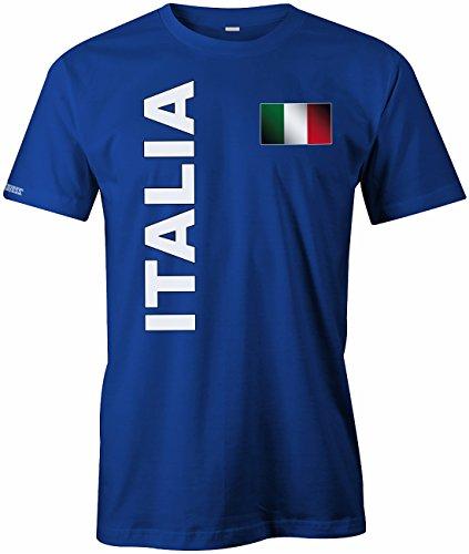 WM 2018 - Italia Fahne - Italien - Herren T-SHIRT Royalblau