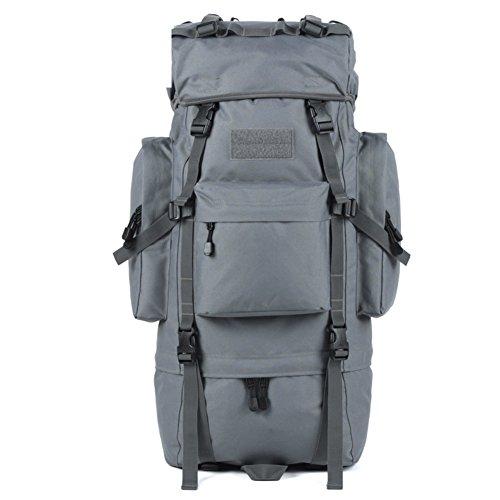 Im Freienberg Taschen/65LWasserdichte Reisetasche verstaut-schwarz 65L grau
