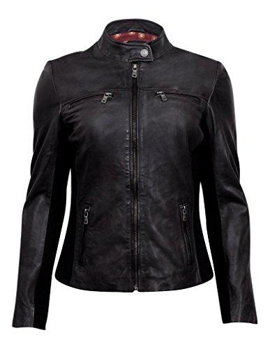 Boot Damen Damsel Jacke, schwarzes Leder, US XL (Durango Leder)