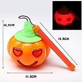 Luces de calabaza brillantes de Halloween Linterna de calabaza portátil para niños Juguetes con sonido Accesorios de decoración de Halloween Imagen colores