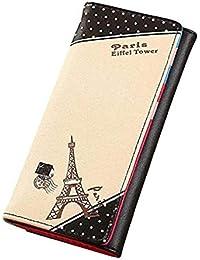 Scpink Bolso de mano de París Eiffel Tower Hasp bolso monedero cartera titulares