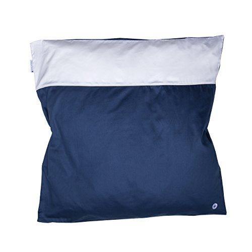 Preisvergleich Produktbild Nordic Coast Premium Baby Bettbezug, dunkelblau/weiß