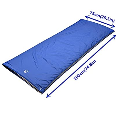 """BESTEAM Agemore Ultra-light Warm Weather Rectangular Sleeping Bag, 75"""" L x 30"""" W, Outdoor Camping, Backpacking & Hiking - Fit for Kids, Teens and Adults - Spring, Summer & Fall - Waterproof & Compact from Agemore"""