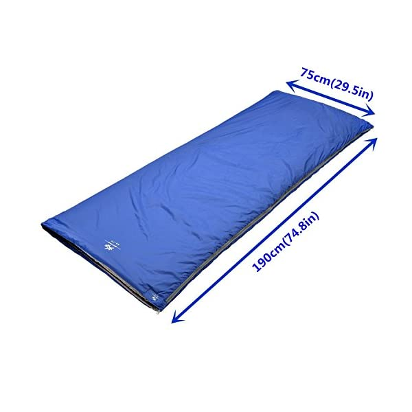 """BESTEAM Agemore Ultra-light Warm Weather Rectangular Sleeping Bag, 75"""" L x 30"""" W, Outdoor Camping, Backpacking & Hiking - Fit for Kids, Teens and Adults - Spring, Summer & Fall - Waterproof & Compact"""