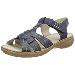 Womens 28900 Sling Back Sandals, Blue Marco Tozzi