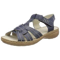 Womens 28900 Sling Back Sandals, Blue Marco Tozzi