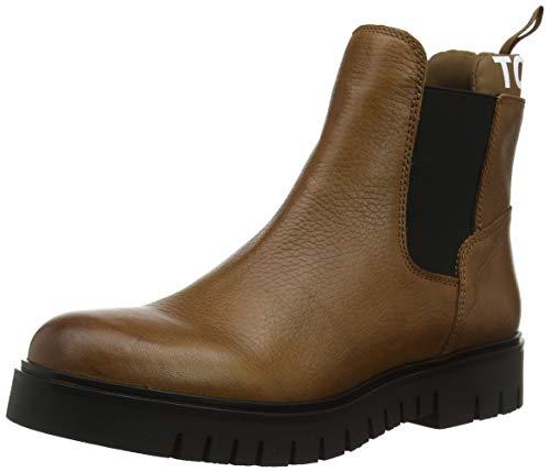 Tommy Hilfiger Damen Corporate Elastic Suede Boot Stiefeletten, Braun (Winter Cognac Gvi), 39 EU