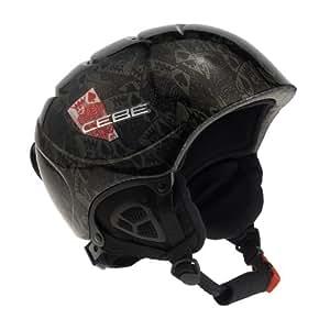 Cébé Kids Fury Ski Helmet - Black/Red Poker, 52-54 cm