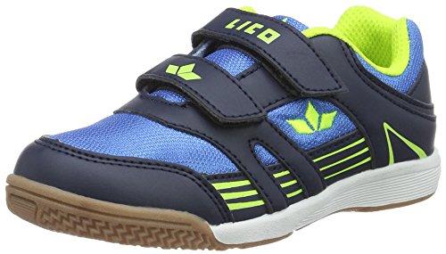Lico Active Boy V, Scarpe Sportive Indoor Bambino Blau (BLAU/MARINE/LEMON     LOT)