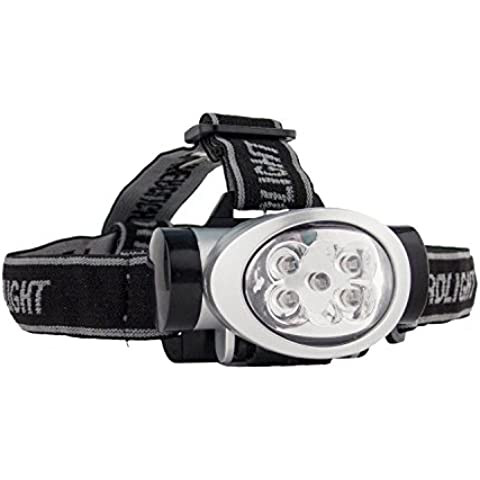 Portwest PA50SIR Lampada Frontale a LED, Nero/Argento