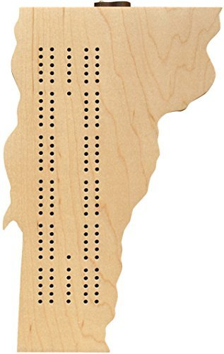 Vermont Shaped Cribbage Board - Made in USA Shaped Board