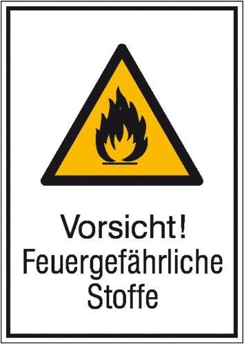 1936 König (1936. Warn-Kombischild Vorsicht! Feuergefährliche Stoffe Aluminium geprägt Größe 13,10 cm x 18,50 cm)