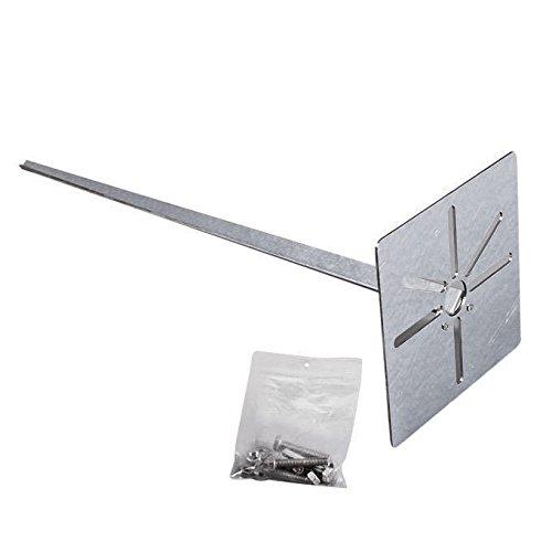 qazqa-universel-piquet-de-terre-galvanise-et-fixation-pour-exterieur-metal-max-x-watt