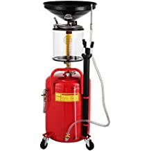 Summile 64L Portable Air Pneumatic Waste Oil Collector Waste Oil Garage Extractor Drenaje Depósito con Rueda