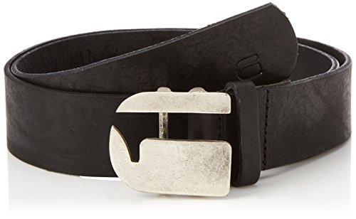 G-star Raw Accessoires (G-STAR RAW Herren Rikku Logo Pin Belt Gürtel, Schwarz (Black/Antic Silvr 8131), (Herstellergröße: 90))