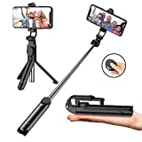 Soft Digits Selfie Stick Tripod, Extendable Bluetooth Selfie Stick with Wireless Remote, 3 in 1 Multifunctional Selfie Stick Monopod For iPhone X XS XR 8 Plus 7 Plus 6s Android Huawei Samsung Galaxy