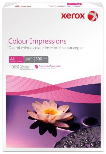 Xerox 003R97666 Premium Farblaser-Papier Druckerpapier, Colour Impressions, Din A4, 100 g/m², 500 Blatt, Farblaser- und Inkjetdruckern, weiß (Laser Xerox Drucker-papier)