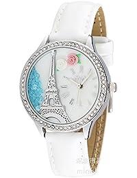 ufengke® mini handgemachte polymer clay damen frauen mädchen strass handgelenk armbanduhren-silbernen turm thema