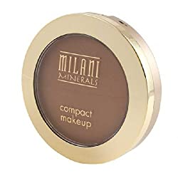 Milani Mineral Compact Makeup, Deep, 0.30 Ounce