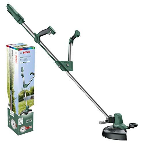 Bosch Akku Rasentrimmer UniversalGrassCut 18 (ohne Akku, 18 Volt System, Schnittkreisdurchmesser: 26 cm, verstellbare Handgriffe, im Karton)