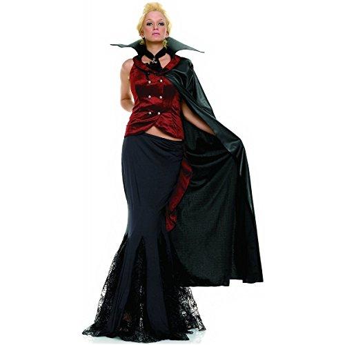Kostüm Vampir Männlich - Leg Avenue 83259 - Vampir Lady Kostüm für Damen - schwarz/rot (Medium)