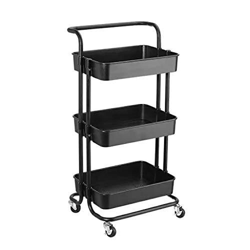 HT trolley 3-Tier Rollwagen Metallbrei Lagerung Organisieren Utility Cart for Salon SPA Beauty Friseur Küche - Tier Warenkorb Drei Küche