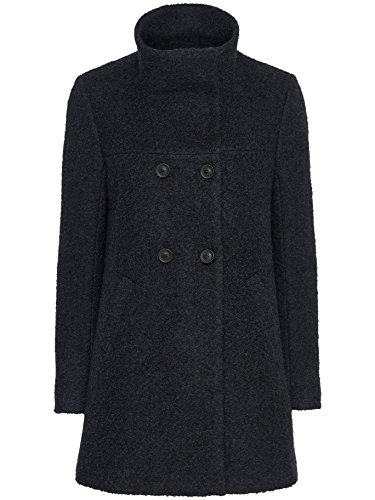 Only Damen Wollmantel Wintermantel Kurzmantel Winterjacke