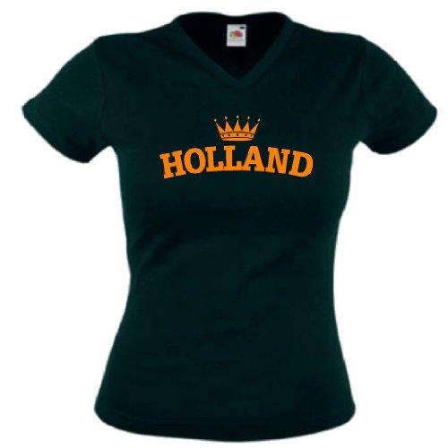 world-of-shirt Damen T-Shirt Holland Krone|L