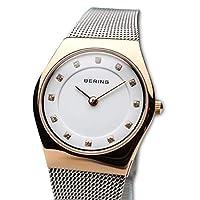 BERING Reloj Analógico para Mujer de Cuarzo con Correa en Acero Inoxidable 11927-064 de BERING