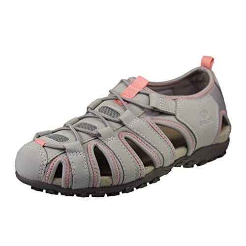 Geox Sandal Strel Größe 38 EU Grau (grau Kombi) Mesh-oxford