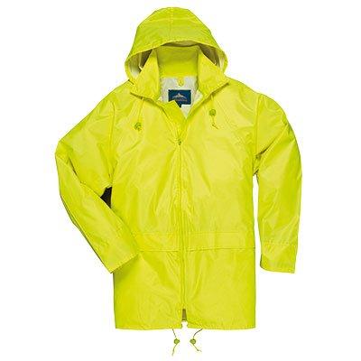 Yellow Damen Regen-mantel (PORTWEST S440 Classic Adult Rain Coat Yellow S440YE-RM)