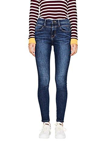 edc by ESPRIT Damen Skinny Jeans 097CC1B027, Blau (Blue Dark Wash 901), W30/L32