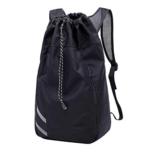 Black Temptation Große Kapazitäts-Basketball-Tasche, Trainingspaket, Drawstring-Rucksack