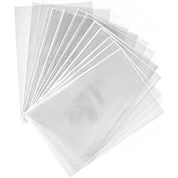 100 sac plastique transparent cellophane 10 x 15 cm alimentaire emballage en sachet cabas de rangement sacs cellophanes transparents sachets plastiques pochette biscuit petit decore bonbon opp mini