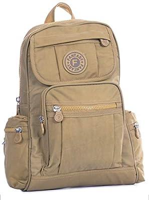 Big Handbag Shop Unisex Rainproof Fabric Lightweight Multipocket Travel Backpack Bag with Elephant Charm - Small Size